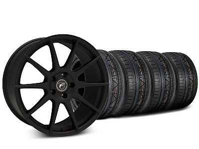 Staggered Forgestar CF10 Textured Matte Black Wheel & NITTO INVO Tire Kit - 20x9 (15-17 All)