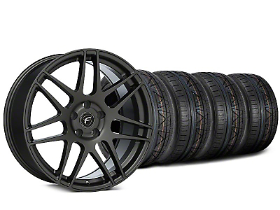 Staggered Forgestar F14 Gunmetal Wheel & NITTO INVO Tire Kit - 19x9/10 (15-17 All)