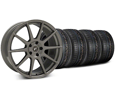 Staggered Forgestar CF10 Gunmetal Wheel & NITTO INVO Tire Kit - 19x9 (15-17 All)