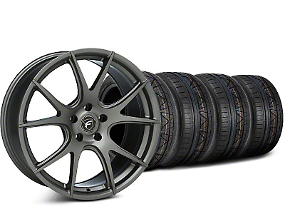 Staggered Forgestar CF5V Gunmetal Wheel & NITTO INVO Tire Kit - 19x9/10 (15-17 All)