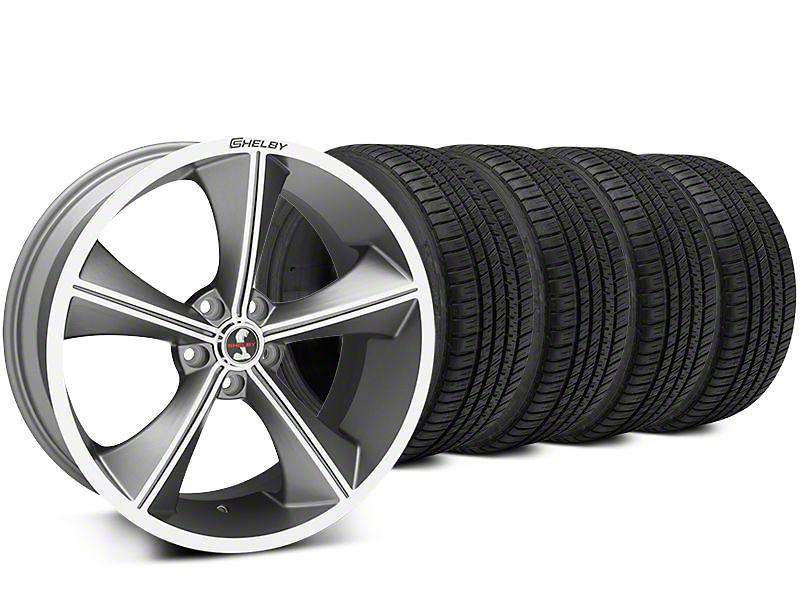 Staggered Shelby CS70 Gunmetal Wheel & Michelin Pilot Sport A/S 3+ Tire Kit - 20x9/10 (15-17 All)