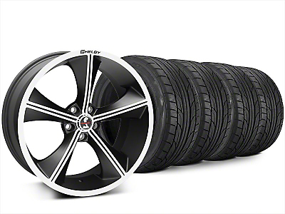 Staggered Shelby CS70 Matte Black Wheel & NITTO NT555 G2 Tire Kit - 20x9/10 (15-17 All)