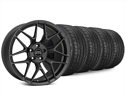 Staggered RTR Tech 7 Charcoal Wheel & NITTO NT555 G2 Tire Kit - 20x9.5/10.5 (15-17 All)