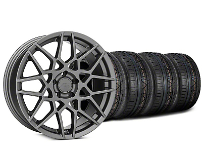 Staggered 2013 GT500 Style Charcoal Wheel & NITTO INVO Tire Kit - 20x8.5 (15-17 All)