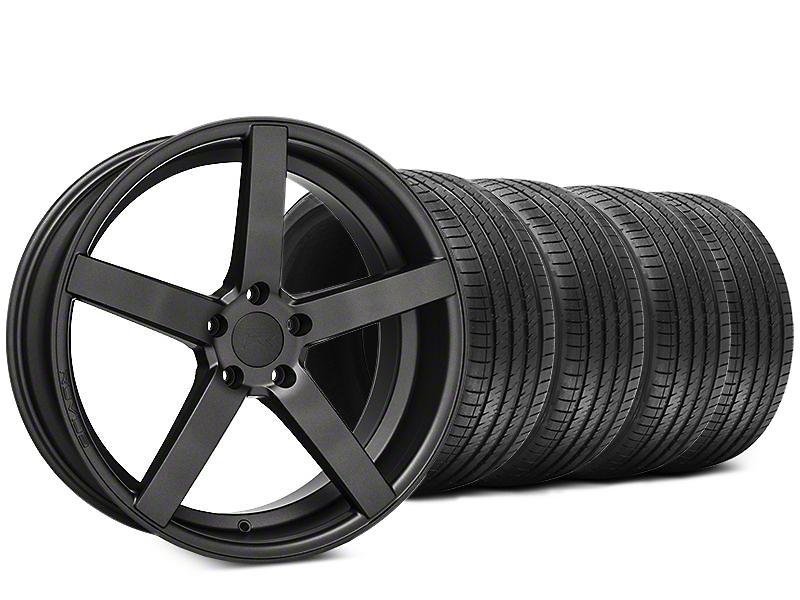 Staggered Rovos Durban Satin Gunmetal & Sumitomo HTR Z III Tire Kit - 20x8.5 (15-17 All)