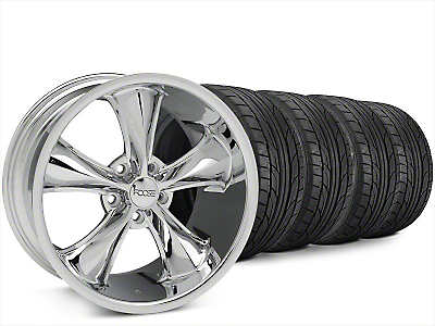 Staggered Foose Legend Chrome Wheel & NITTO NT555 G2 Tire Kit - 20x8.5/10 (15-17 All)