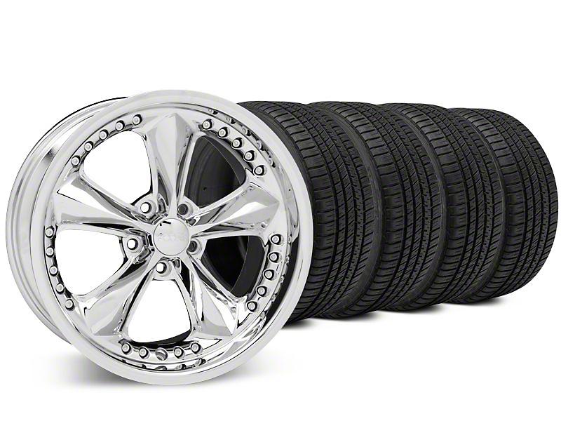 Staggered Foose Nitrous Chrome Wheel & Michelin Pilot Sport A/S 3+ Tire Kit - 20x8.5/10 (15-17 All)