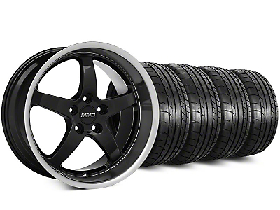 Staggered MMD Kage Black Wheel & Mickey Thompson Street Comp Tire Kit - 19x8.5 (15-16 All)