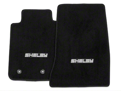 Lloyd Black Floor Mat w/Silver Shelby Logo - Fronts Only (15-17 All)