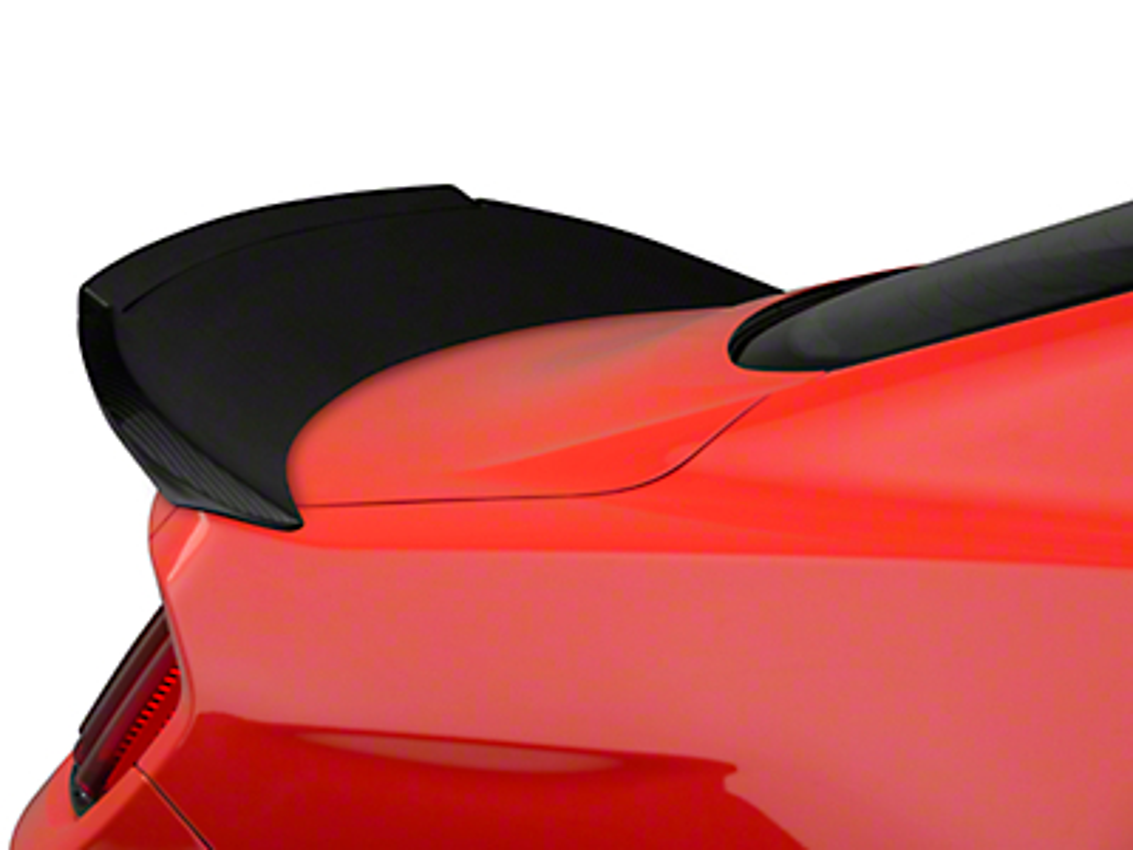 Trufiber Carbon Fiber Rear Spoiler w/ Gurney Flap - Fastback (15-16 GT, V6, EcoBoost)