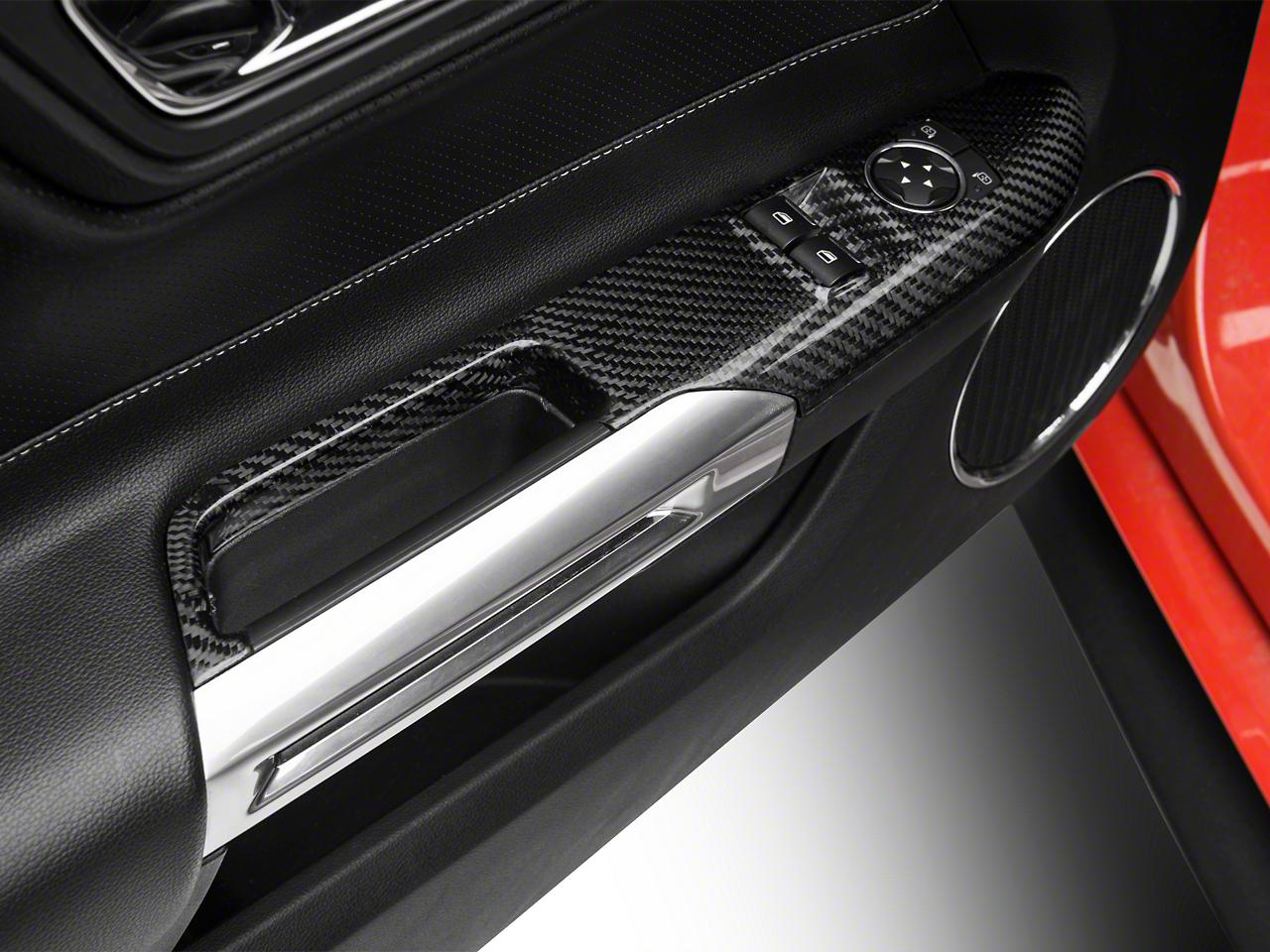Trufiber Carbon Fiber Window Switch Covers (15-17 GT, EcoBoost, V6)