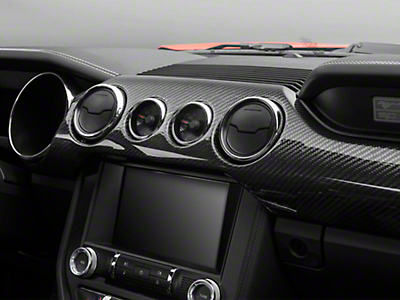 Trufiber Carbon Fiber Dual Gauge Dash Kit (15-16 Performance Pack GT, EcoBoost)