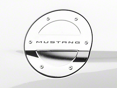 MMD Chrome Billet Aluminum Fuel Door w/ Mustang Lettering (15-17 All)