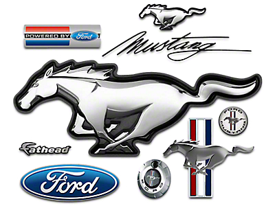 Fathead Ford Mustang Logo Wall Decals