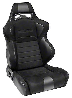 Corbeau LG1 Racing Seat - Wide - Black Microsuede - Pair (79-17 All)