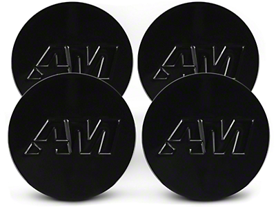 Black AmericanMuscle Center Cap Kit (94-16 All)