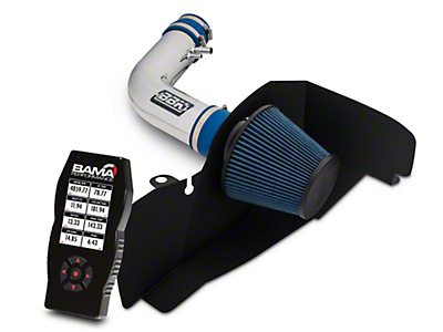 BBK Chrome Cold Air Intake & Bama X4 Tuner (15-17 V6)