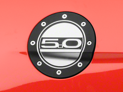 Competition Series Fuel Door - 5.0 Black/Silver (15-17 All)