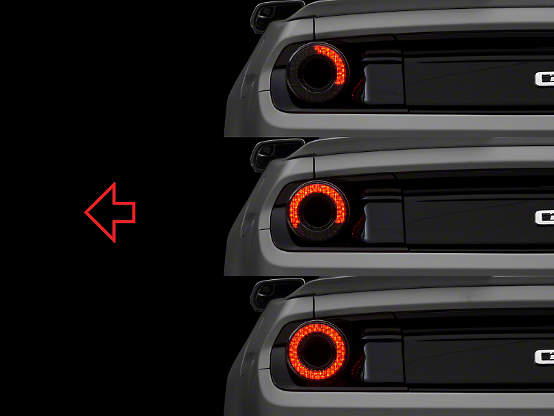 Raxiom Halo Led Mustang Tail Light Smoked 393827 15 17