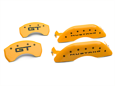 MGP Yellow Caliper Covers w/ GT Logo - Front & Rear (15-17 GT)