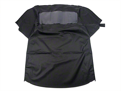 Replacement Convertible Top w/ Plastic Rear Window - Black (83-93 All)