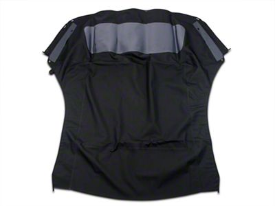 Replacement Convertible Top w/ Plastic Rear Window - Black