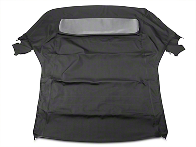 Replacement Convertible Top w/ Plastic Rear Window - Black (05-14 All)