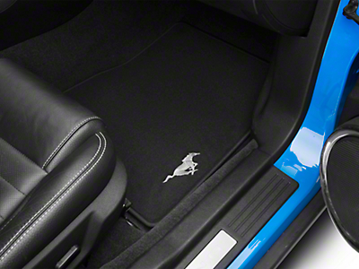 Ford Black Floor Mats w/ Running Pony Logo - Front Only (11-12 All)