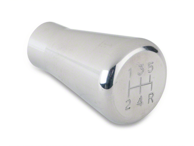 Modern Billet Polished Billet Shift Knob - 5 speed engraved (79-04 All; Excludes 03-04 Cobra)