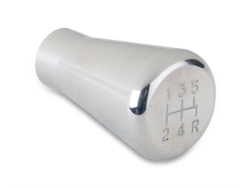 Modern Billet Polished Billet Shift Knob - 5 speed engraved (79-04 All; Excludes 03-04 Cobra)