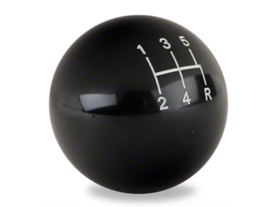 Modern Billet Retro Style 5-Speed Shift Knob - Black (79-04 All; Excludes 03-04 Cobra)