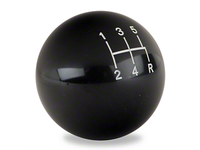 Retro Style 5-Speed Shift Knob - Black (79-04 All)