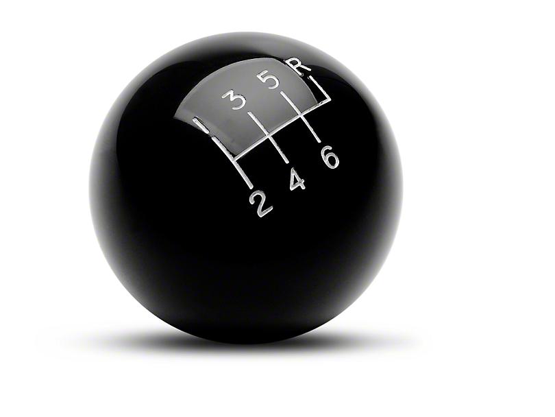 Billiard Ball 6-Speed Shift Knob - Black (03-04 Cobra)