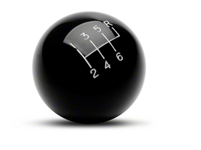Billiard Ball 6-Speed Shift Knob - Black (03-04 Cobra)