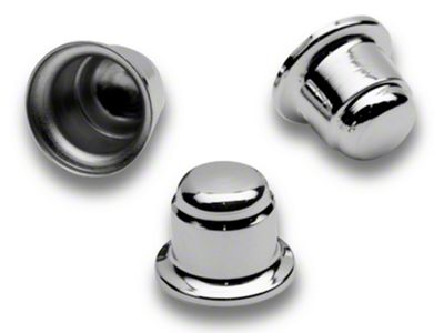 Add Chrome Strut Tower Nut Cap Cover Set