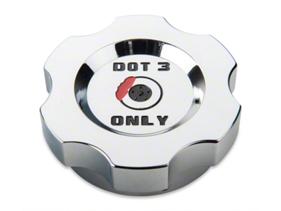 Modern Billet Chrome Brake Fluid Cap Cover (05-14 V6 & GT, 2015 All)