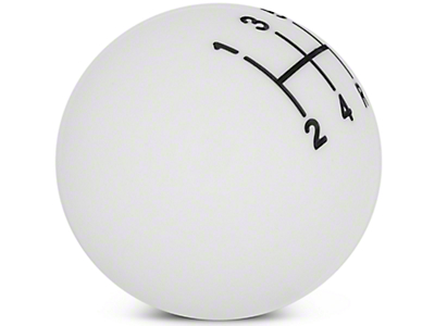 Modern Billet Retro Style 5-Speed Shift Knob - White (05-10 All)