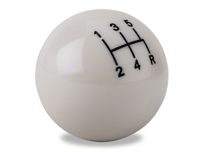 Modern Billet Retro Style 5-Speed Shift Knob - White (79-04 All; Excludes 03-04 Cobra)