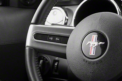 Satin Steering Wheel Button Bezels (05-09 All)