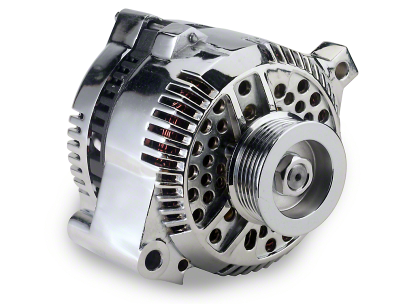 PA Performance Chrome Alternator - 130 Amp (94-95 GT; 94-00 V6)