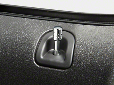 Modern Billet Chrome Door Lock Pins (05-14)