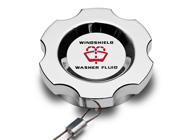 Modern Billet Chrome Washer Fluid Cap (10-14 All)