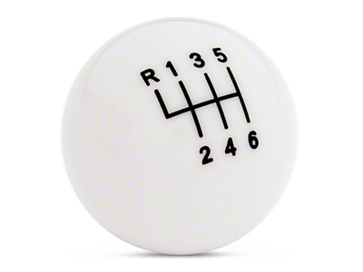 Modern Billet Retro Style 6-Speed Shift Knob - White (11-14 GT/V6, 11-12 GT500)