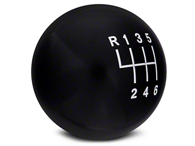 Modern Billet Retro Style 6-Speed Shift Knob - Black (11-14 GT, V6; 11-12 GT500)