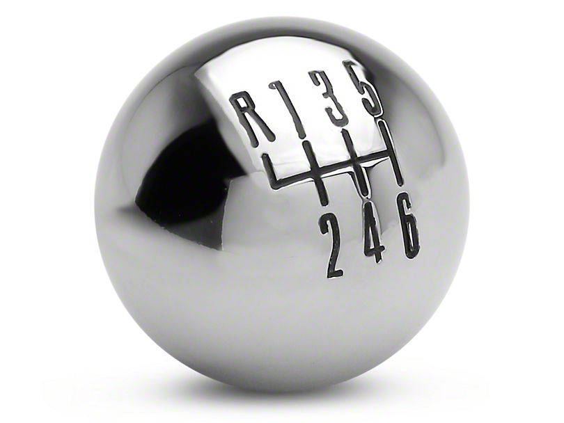 Modern Billet Retro Style 6-Speed Shift Knob - Chrome (11-14 GT, V6)