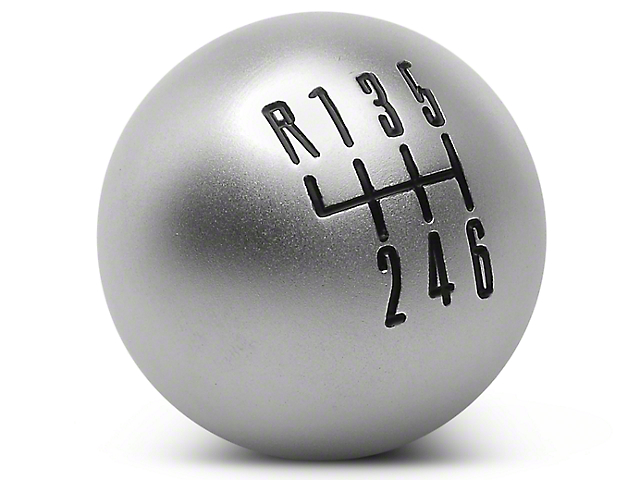 Modern Billet Retro Style 6-Speed Shift Knob - Satin (11-14 GT, V6)