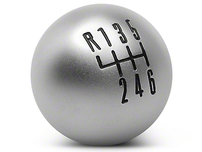 Modern Billet Retro Style 6-Speed Shift Knob - Satin (11-14 GT, V6; 11-12 GT500)