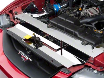 Modern Billet Polished Stainless Steel Radiator Cover (99-04 GT, V6, Mach 1; 99-01 Cobra)