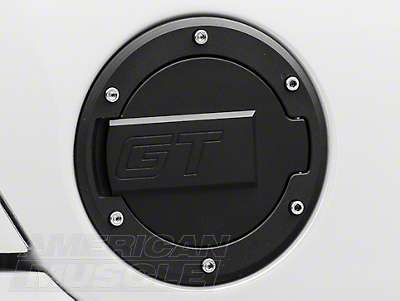 MMD Black Billet Aluminum Fuel Door- GT Logo (94-04 All)