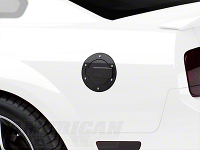 MMD Black Billet Aluminum Fuel Door - GT Logo (05-09 All)